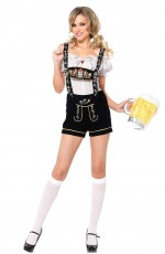 Ladies Oktoberfest Beer Maid Wench German Bavarian Heidi Fancy Dress Costume