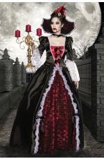 Vampire Queen Medieval Renaissance Dracula Halloween Gown Fancy Dress Costume
