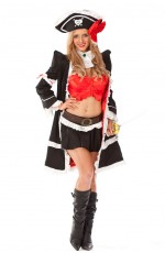 Women Halloween Pirate Dress Up Outfits