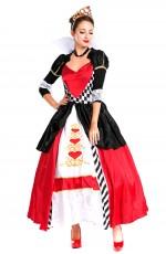 Deluxe Disney Queen of Hearts Alice in Wonderland Costume Movie Fancy Dress