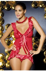 Baby Dolls - Red open front babydoll with thong