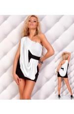 Black/white Mini Dress