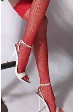 Stretchy Fishnet Thigh High Stockings Over The Knee