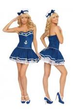 Sailor Costumes - Sailor Pin Up Fancy Dress Costume & Hat