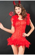 Ladies Halloween Devil Costume