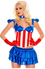 Ladies Fancy American Dream Super Hero Costume