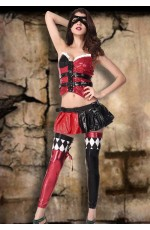 Naughty Harley Jester Clown Halloween Costume