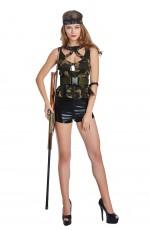 Ladies Army Flight MilitaryPolice Soldier Costume