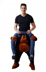 Gorilla Shoulder Carry On Piggy Back Ride On Me Costume
