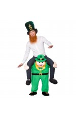 Leprechaun St Patricks Day Shoulder Carry On Piggy Back Ride On Me Costume
