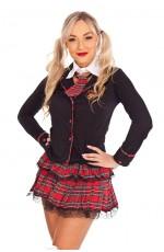 Ladies Sexy School Girl costume Teachers Pet Fancy Dress