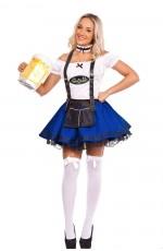 Oktoberfest Beer Maid Costume Blue