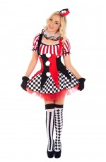 Ladies Circus Jester Cosplay Fancy Dress Costume