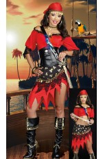 Pirate Costumes - Ladies Pirate Wench Musketeer Fancy Dress Costume