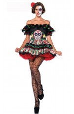 Dia De Los Beauty Halloween Fancy Dress Costume