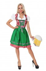 Ladies Oktoberfest Wench German Heidi Costume