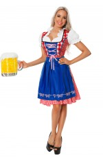 Ladies Blue Wench German Heidi Costume