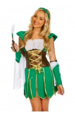 Ladies Xena Warrior Elf Gladiator Fancy Dress Costume