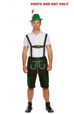 Mens German Beer Oktoberfest Costume Shorts + Hat Only