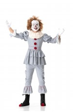 Teens Pennywise  IT Movie Stephen King Horror Clown Scary Costume Halloween Mask