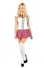 Ladies Schoolgirl School Girl Uniform Costume