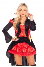 Ladies Vampire Countess Fancy Dress Costume