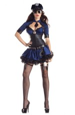 Ladies Police Uniform Fancy Dress Costume