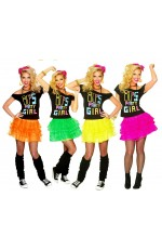 80s Party Girl T-shirt Skirt Costume