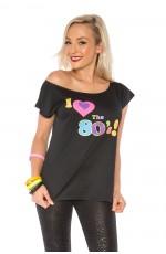I Love the 80s T-shirt Costume 1980s Fancy Dress Top