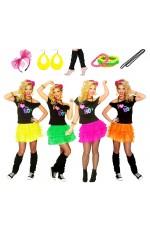 I Love the 80s T-shirt Skirt Costume Full Set