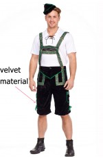 Mens Lederhosen Octoberfest Bavarian German Beer Costume