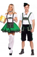 Green Couple Oktoberfest Bavarian Costume