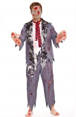 Mens Halloween Zombie Bloody Horror Costume Outfits