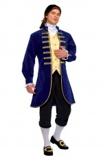 French Aristocrat George Washington Colonial Men Costumes Jacket Knickers LH-206