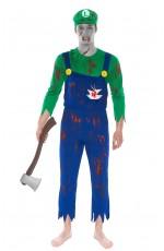 Adult Luigi Zombie Bloody Halloween Costume