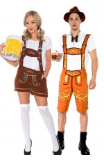 Couple Lederhosen Traditional Costume