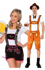 Couple Lederhosen Oktoberfest Costume