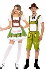 Couple Lederhosen Oktoberfest Heidi Costume