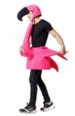 Flamingo Fancy Dress Costume Bird Men Ladies Womens Male Female Unisex