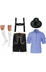 Mens Lederhosen Oktoberfest German Fancy Costume