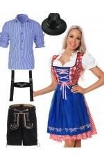 Couples Alpine Beer Maid Wench Costume