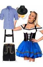 Couples Oktoberfest Beer Maid Wench Costume