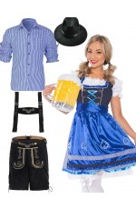 Couples Oktoberfest Beer Maid Dirndl German Costume