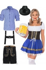 Couple Oktoberfest Beer Maid Vintage Costume