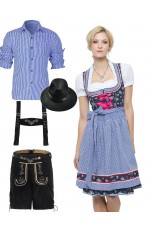 Couples Oktoberfest Dirndl German Costume