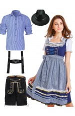 Couple Oktoberfest Beer Maid Wench Costume