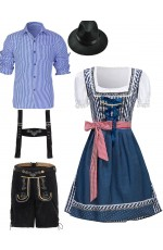 Couple Oktoberfest German Wench Costume