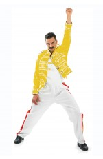 Mens Costume Adult 80s 1980s Freddy Rock Star Rock