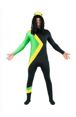Men Jamaican Rasta Hero Fancy Dress Costume Bobsleigh Bobsled Team Sports