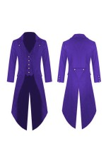 Purple STEAMPUNK TAILCOAT COSTUME JACKET Magician